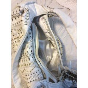 Francesco Biasia Bags - Francesco Biasia White Leather Shoulder Bag